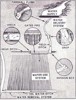 اجزا سیستم آبیاری